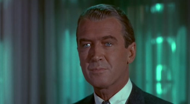James Stewart en Vértigo.