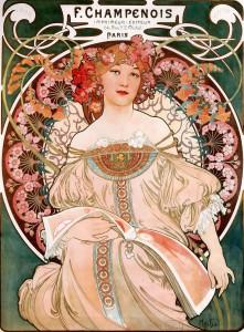 ART -Nouveau , Alphonse Mucha, artista checo.